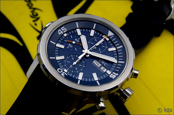 "a5feaf07afd ... vytvořit v rámci své kolekce Aquatimer jedinečné hodinky IWC Aquatimer  Chronograph Edition ""Expedition Jacques-Yves Cousteau"""